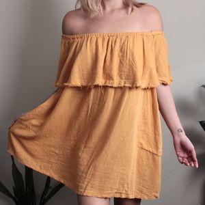Free People Mustard Dress